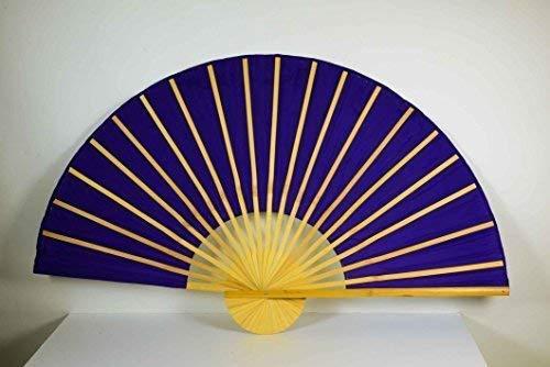 E + N Déco Déco Chine Bambusfächer Violet L: 90cm, Ø : 180cm, Tissu en Polyester