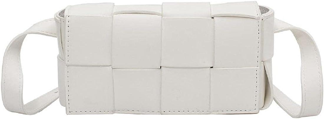 Lovebags Pu Leather Mini-Trend Woven Handbag Shoulder Bag Messenger Bag Chest Pockets Tofu Small Square Package