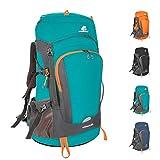 SKYSPER Mochilas de Senderismo 50 litros Impermeable Mochila de Marcha Trekking Macutos con Cubierta de Lluvia para Viajes Excursiones Acampadas Trekking Camping Deporte al Aire Libre
