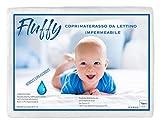 Tex family COPRIMATERASSO Impermeabile ANTIACARO PVC Lettino Fluffy Anti URINA in Puro Cotone