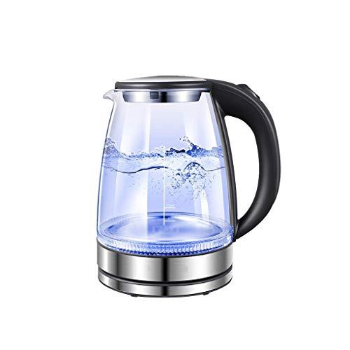 CFYPY waterkoker, glas, warmwaterboiler, 1,7 liter, snelkokende theewaterboiler met blauw licht, automatische uitschakeling, voor thuisgebruik
