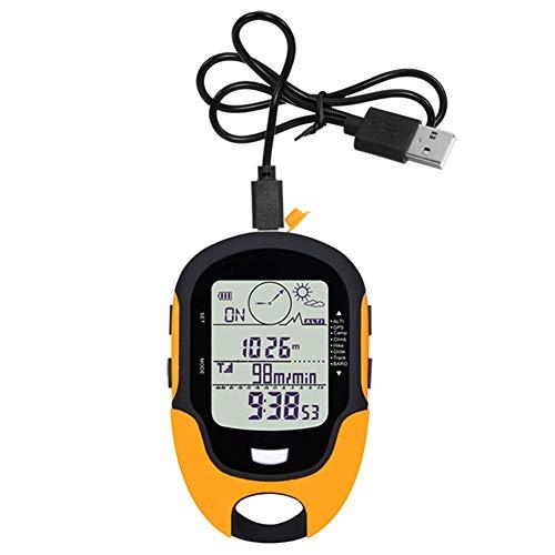 N / A Brújula, brújula, barómetro, Mini altímetro multifunción, Duradero, Resistente a Altas temperaturas, Carga USB, Ipx4 Impermeable, termómetro Digital LCD de Mano