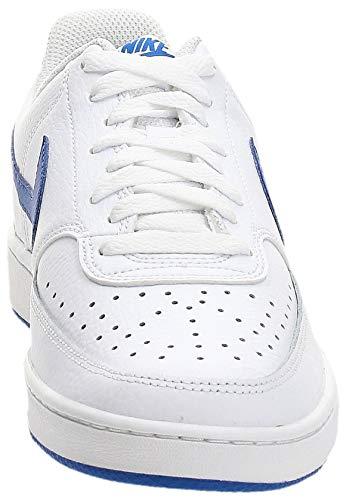 Nike Court Vision Lo, Zapatillas de Baloncesto. Hombre, White Game Royal, 41 EU