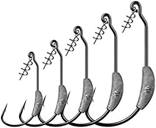LikeFish 5pcs/Pack Fishing Weighted Hooks with Twistlock Weighted Superline Spring Hook 2g 2.5g 3g 4g 7g