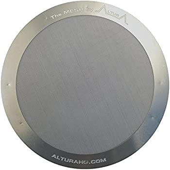 Altura The Mesh: Premium Filter For Aeropress Coffee Makers + Free Ebook With Recipes, Tips, And More, Stainless Steel, Washable and Reusable. Lifetime 100% Guarantee