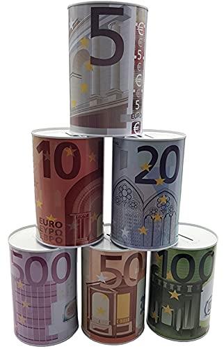 Vani Spardose Metallspardose Metall Eurospardose Euro Geldspardose Sparschwein 10 x 15cm (3X)