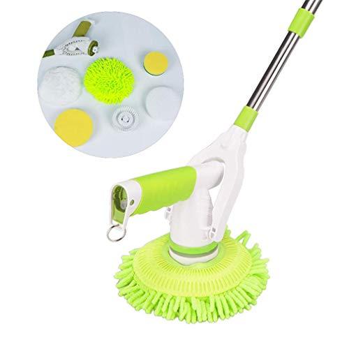 ADDG Fregona eléctrica giratoria Cepillo de Limpieza para el hogar Máquina enceradora para Pisos de Madera Limpiador de vidrios Pulido de Autos