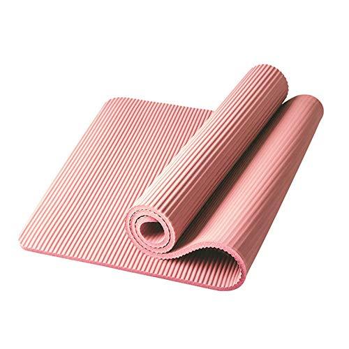 Xinrongqu 185Cm Fitness Mat Yoga, Mat Men Gym Gym Mat Esterilla Yoga Tapete Pad Alargar Antideslizante para Principiantes con Bolsa De Yoga,10mm