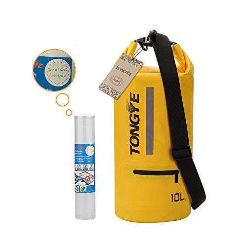 Tongye Sac sec de rangement étanches pour les sports nautiques en plein air L jaune