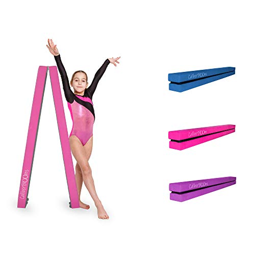 Practice Gymnastics Beam for Training Physical Therapy and Professional Home Training FBSPORT 8ft Balance Beam: Folding Floor Gymnastics Equipment for Kids Adults,Non Slip Rubber Base