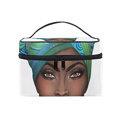Trousse à maquillage de voyage pour femme - Motif : jolie fille africaine - Pour le maquillage