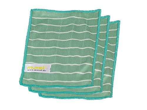 Muxel Brillenputztuch Microfaser Reinigungstücher Bambus Brillen u. Handy Tuch 3 Tücher