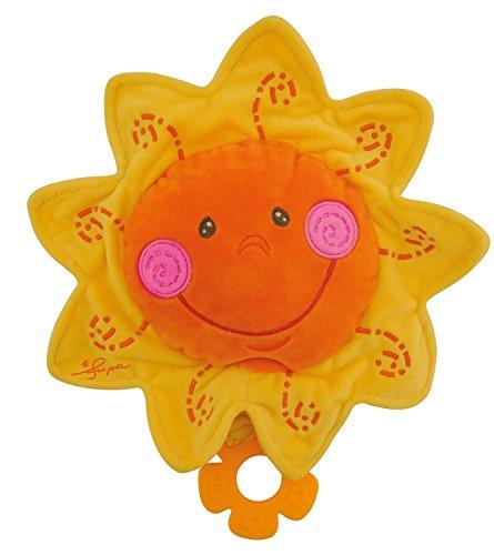 Bieco Musikspieluhr Sonne, Ø 27 cm / Baby Spieluhr / Einschlafhilfe Babys / Baby Musik / Spieluhr Baby / Baby Schlaf / Kuscheltiere für Babys / Einschlafhilfe Kinder / Baby Spielzeug ab 0 Monate