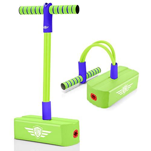 LetsGO toyz Pogo Stick per Bambini, Saltarello All'aperto Gioco Sportivo Regalo Divertente per Bambini