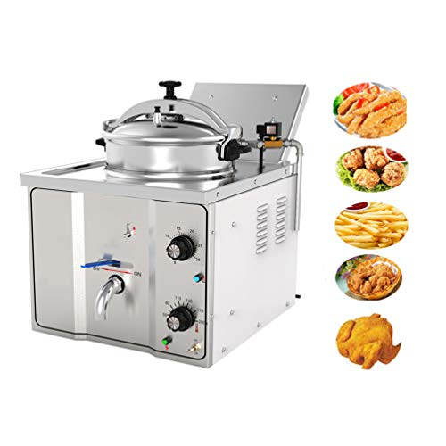 Enshey 2400W Electric 16L Pressure Fryer Cooking Countertop Timer Deep...