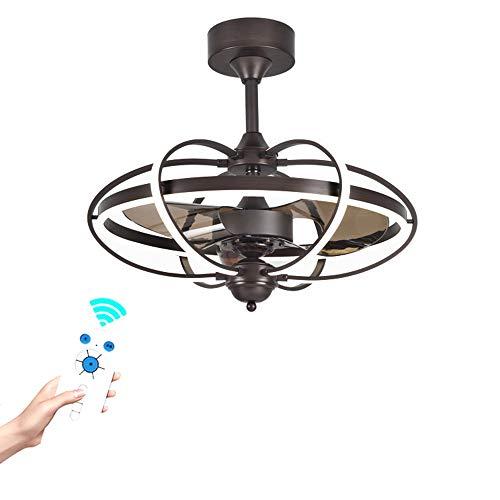 Ceiling Fan DFVV Deckenventilator mit Gleichstrommotor und Licht, 5D Vortex Lüfterflügel, Ideal für Schlafzimmer, Wohnzimmer und Küche