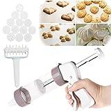 Cookie Icing - Set di utensili per biscotti, con taglierina a rotelle, in plastica, pressa...