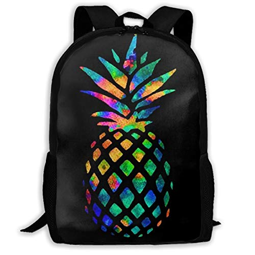 Oswz Cool Pineapple Colorful Travel Backpack Insulated Soft Lunch Cooler for Men Women, Best for Picnic, Hiking, Travel, Beach, Sports, Work