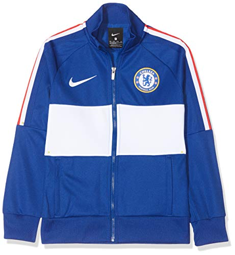 Nike CFC Y Nk I96 Jkt, Giacca Sportiva Unisex Bambini, Rush Blue/White/(White) (No Sponsor-plyr), S