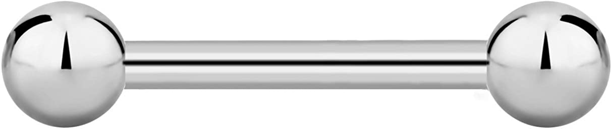 14g-16g Internally Threaded Credence Titanium Body Barbell Straight Pierc Superior