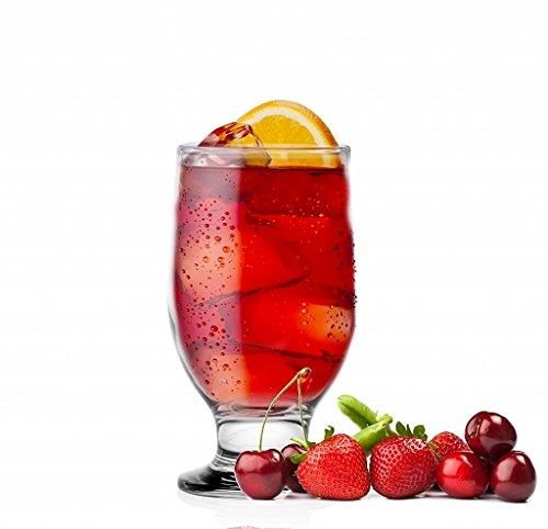 Sendez Elegantes 6er Gläser mit Fuß Wassergläser Saftgläser 270 ml Trinkgläser Klarglas