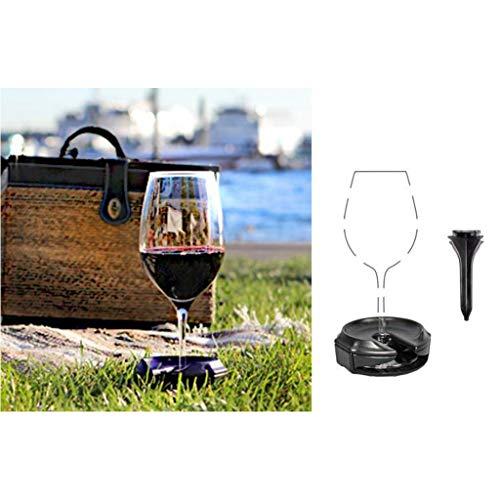 Weinglas-Halter, Wine Glass Holder, Covermason Weinschaukel, Weinglas Halter für den Hals, weinglashalter zum um hängen, Weinschaukel für Draußen (Schwarz)