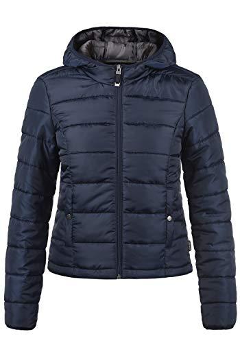 VERO MODA Pamela Damen Übergangsjacke Steppjacke leichte Jacke gefüttert mit Kapuze, Größe:M, Farbe:Night Sky