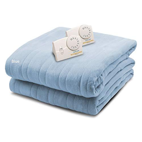 Biddeford Blankets Comfort Knit Heated Blanket, Queen, Cloud Blue