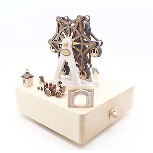 YIXIN2013SHOP Caja de Música Noria de Madera Caja de música Caja de música giratoria Romántica Creativa Cumpleaños for Novias, Amigos, niños Caja Musical (Edition : 2)