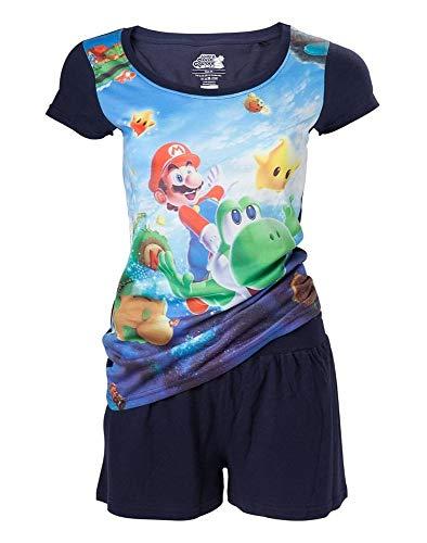 Super Mario & Yoshi - Pijama para niña multicolor XXL