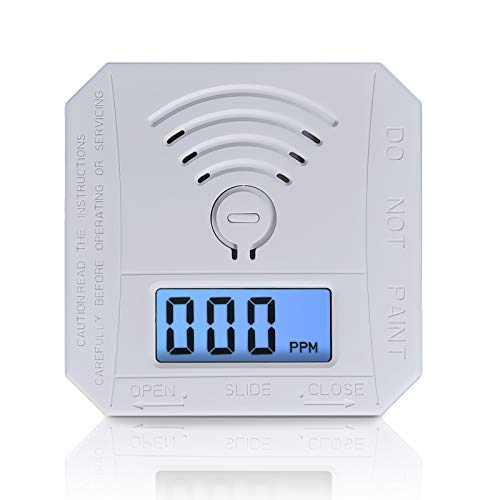 Carbon Monoxide Detector ,CO Gas Monitor Alarm Detector Complies with UL 2034 Standards ,CO Sensor with LED Digital Display for Home,Depot,Battery Powered