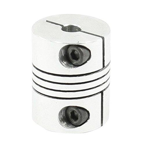 Gaoominy 5x6.35mm Acoplamiento del Eje del Motor CNC 5 mm a 6,35 mm Acoplamiento Flexible