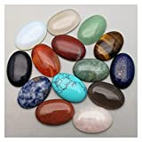 PINGPUNG Cristal áspero Venta al por Mayor Moda 20x30mm Mixed Piedra Natural Beads Charms Oval No Hole Beads 12pcs / Lot