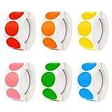 Iyowei 3000 Stück Klebepunkte Bunt Aufkleber Rund Klebeetiketten Kreis Markierungspunkte Selbstklebende Etiketten Beschreibbare Oberfläche Dot Sticker für DIY Scrapbooking Kalender
