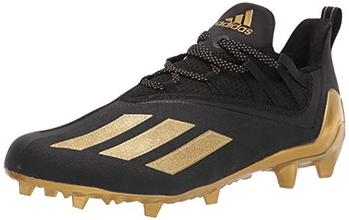 adidas Men's Adizero Running Shoes, Black/Gold Metallic/Black, 18