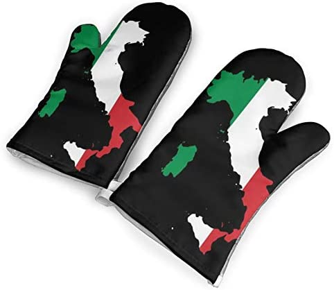 Italia Italy Italian Map Oven Mitts and Pot Holders Set Kitchen Gift Set Non Slip Textured Grip product image