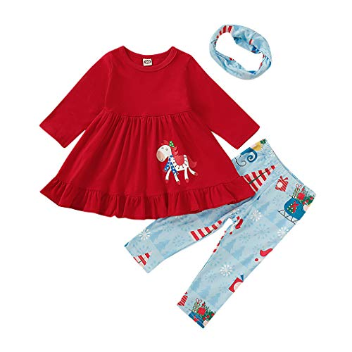 Juego de Ropa de Navidad para niños, Vestido tutú de Manga Larga...