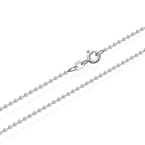 NKlaus Kugelkette Silber Kette 3638, 45 cm lang, 2 Gramm 1,2 mm Breit