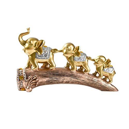 Kreative Kleine Ornamente Leichte Luxusdekoration Kleine Elefantenornamente Wohnzimmerdekoration, Kreative Kleine Ornamente Auf Der Fensterbank (Color : Gold, Size : 35 * 22cm)