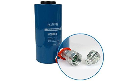 TEMCo HC0003 - Hollow Hydraulic Cylinder Ram 30 TON 4 in Stroke - 5 Year Warranty