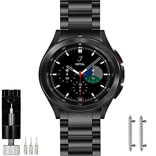 OTOPO Cinturino in metallo compatibile con Samsung Galaxy Watch 4 Classic da 46 mm, cinturino di ricambio in acciaio inossidabile massiccio, design speciale per Samsung Galaxy Watch4 Classic 46 mm,