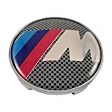 LUDOSTREET ref0003 Logo Emblema Insignia Anagrama Llanta Rueda Auto Coche Compatible con 68mm 5 Pins (Serie M Cromado)