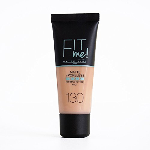 Maybelline Fit Me Base de Maquillaje Mate, Sin Poros, 130 Buff Beige - 30 ml
