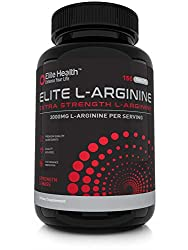 Elite Health, Elite L-Arginine Tablets - 3,000mg Per Serving x 50 Day Supply - 150 Tablets