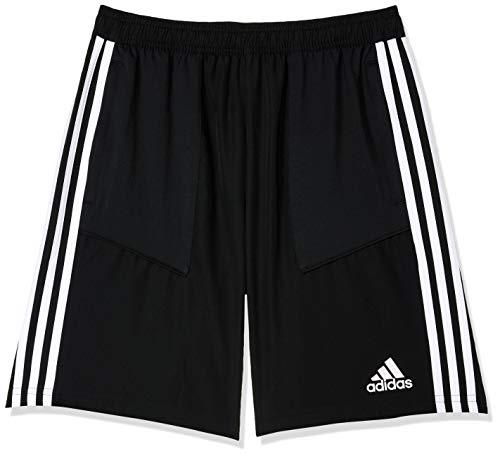 adidas Pantaloncini Intrecciati Tiro 19, Bambini, Black/White, 13A