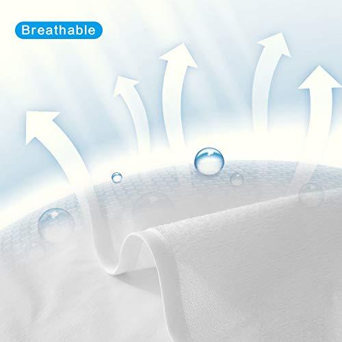 Beedsooth Protector de Colchón Impermeable, Funda de Colchón de Algodón Transpirable con Esquinas Elásticas - 135x190cm, Blanco