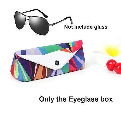 Eyeglass Box,Unisex Cool Kleurrijke Driehoek Bril Beschermer Opslag Container Zonnebril Case