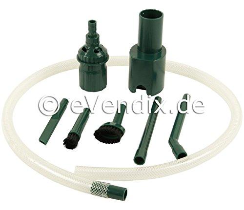 eVendix Kit de Limpieza para PC |Juego de boquillas |Conjunto de Pinceles |Juego de aspiradora - 8 Piezas Adecuado para Vorwerk Kobold VK 130, 131, 135, 136, 140, 150, 200