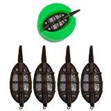 Inline Method Lead Carp Fishing Set with 1 Quick Release Mould Coarse for Bait Holder Tool