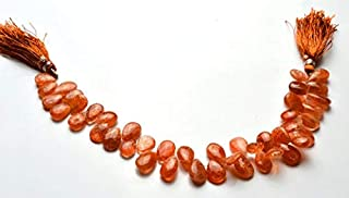 Jewel Beads Natural Beautiful jewellery 1 Strand Natural 8 Inch Strand, Super Finest-Quality-SUNSTONE Smooth Pear Shape Beads 10 To 12 mmCode:- JBB-3157